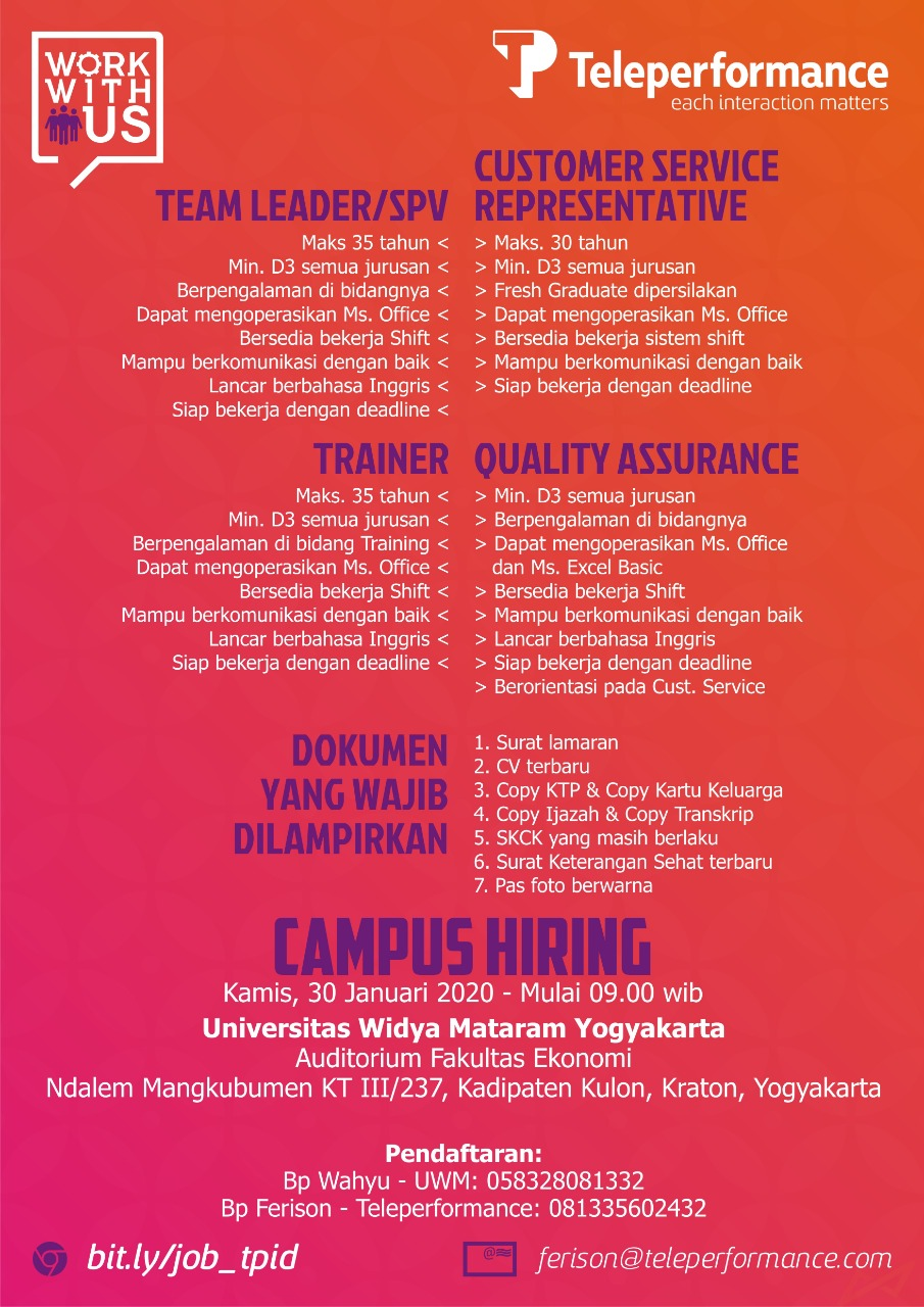 Informasi Campus Hiring - Teleperformance