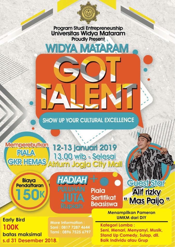 Widya Mataram Got Talent