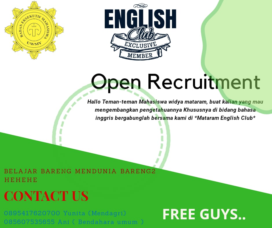 Mataram English Club BEM UWM